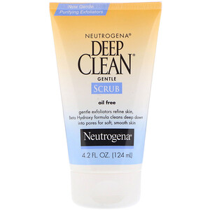 НьютроДжина, Deep Clean, Gentle Scrub, Oil Free, 4.2 fl oz (124 ml) отзывы покупателей