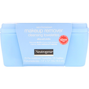 НьютроДжина, Makeup Remover Cleansing Towelettes, Ultra-Soft Cloths, 25 Pre-Moistened Towelettes отзывы