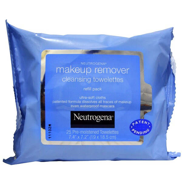 Makeup Remover Cleansing Towelettes, 25 Pre-Moistened Towelettes