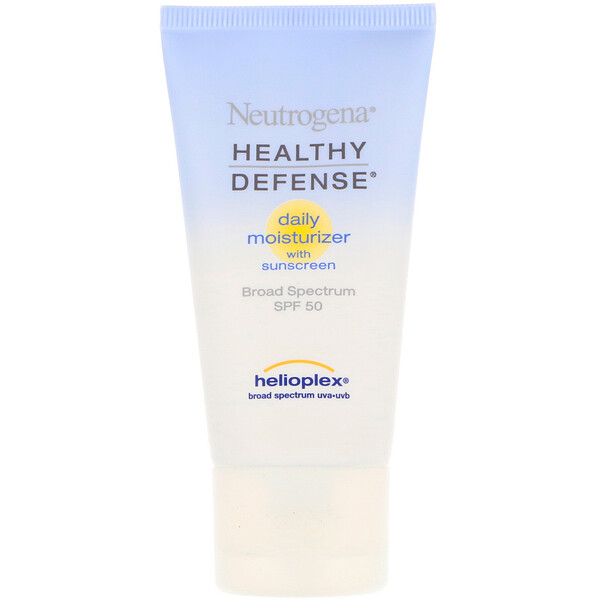 Neutrogena, Healthy Defense, Daily Moisturizer with Sunscreen, Broad Spectrum SPF 50, 1.7 fl oz (50 ml) (Discontinued Item)