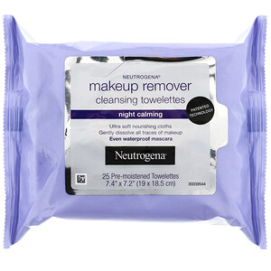 НьютроДжина, Makeup Remover Cleansing Towelettes, Night Calming, 25 Pre-Moistened Towelettes отзывы