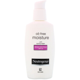 Neutrogena, Oil Free Moisture, Facial Moisturizer with UVA/UVB Protection, Broad Spectrum SPF 35, 2.5 fl oz (73 ml)