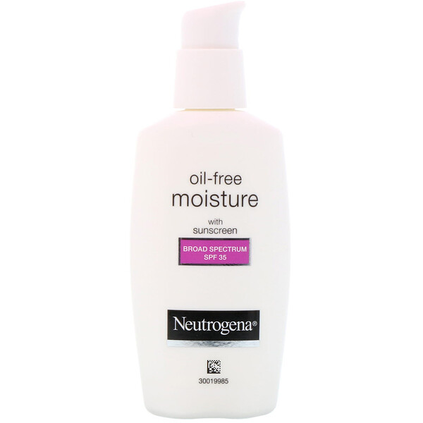 Neutrogena, Oil Free Moisture, Facial Moisturizer with UVA/UVB Protection, Broad Spectrum SPF 35, 2.5 fl oz (73 ml)