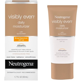 Neutrogena, Visibly Even, Daily Moisturizer with Sunscreen, SPF 30, 1.7 fl oz (50 ml)