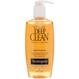 Neutrogena, Deep Clean, Facial Cleanser, 6.7 fl oz (200 ml)