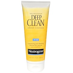 Neutrogena, Deep Clean Cream Cleanser, 7 oz (200 g)