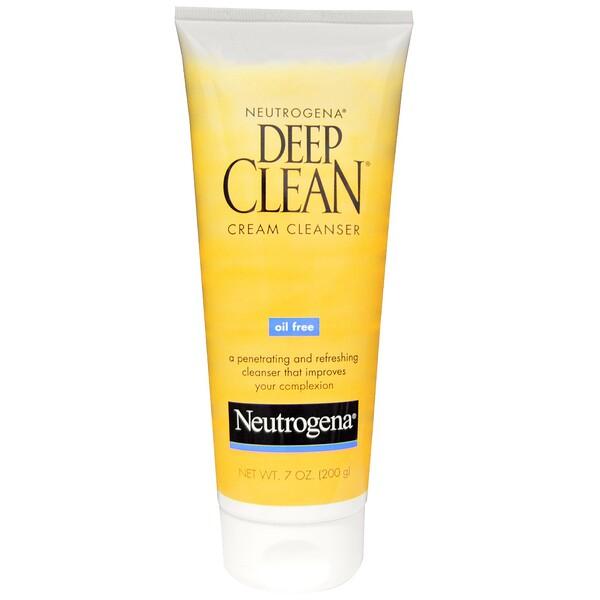 Neutrogena, Deep Clean Cream Cleanser, 7 oz (200 g) (Discontinued Item)