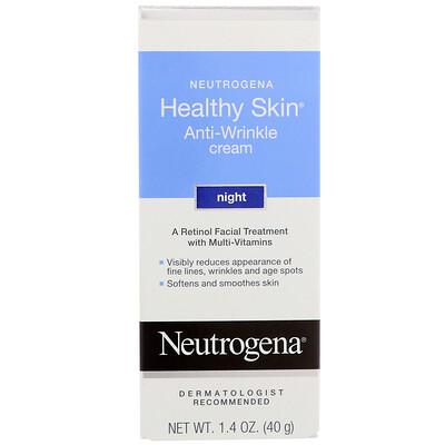 Купить Healthy Skin, крем против морщин, ночной, 1, 4 унц. (40 г)