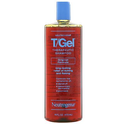 Купить T/Gel, терапевтический шампунь, оригинальная формула, 16 жидких унций (473 мл)