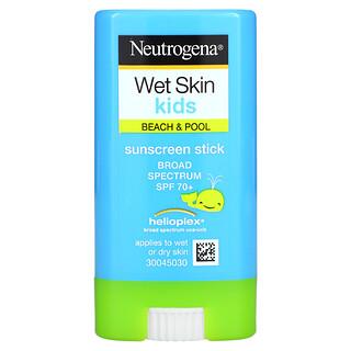 Neutrogena, Wet Skin Kids, Beach & Pool, Sunscreen Stick, SPF 70+, 0.47 oz (13 g)