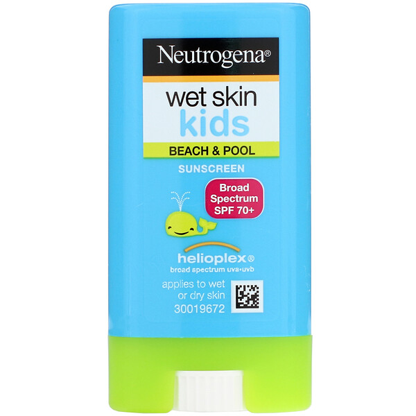 Wet Skin Kids, Beach & Pool, Sunscreen Stick, SPF 70+, 0.47 oz (13 g)