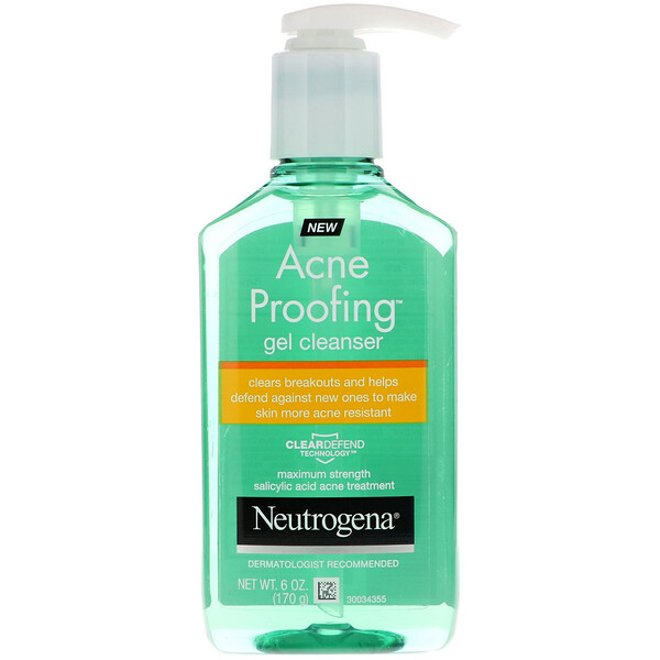 Neutrogena, Acne Proofing, Gel Cleanser, 6 oz (170 g)