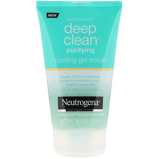 Neutrogena, Deep Clean, Purifying, Cooling Gel Scrub, 4.2 oz (119 g)
