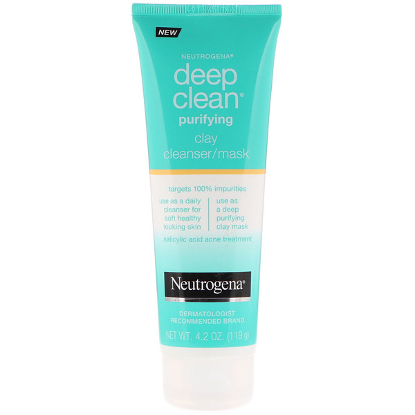 Neutrogena, Deep Clean, Purifying, Clay Cleanser/Mask, 4.2 oz (119 g) (Discontinued Item)