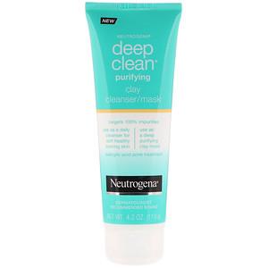 НьютроДжина, Deep Clean, Purifying, Clay Cleanser/Mask, 4.2 oz (119 g) отзывы покупателей