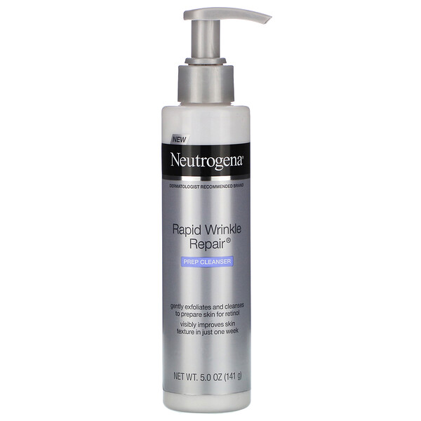 Neutrogena,  Rapid Wrinkle Repair, Prep Cleanser, 5.0 oz (141 g)