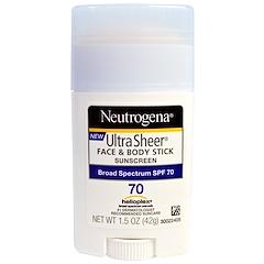 Neutrogena, Ultra Sheer Face & Body Stick, Sunscreen, SPF 70, 1.5 oz (42 g)