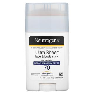 Neutrogena, Gesicht- und Körperstift, hauchdünne Sonnencreme, LSF 70, 1.5 oz (42 g)