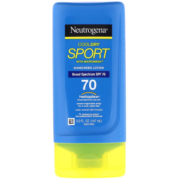 Neutrogena, CoolDry Sport, With Micromesh, Sunscreen Lotion, SPF 70, 5.0 fl oz (147 ml)