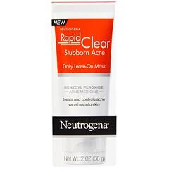 Neutrogena, Rapid Clear, Stubborn Acne, Daily Leave-On Mask, 2 oz (56 g)