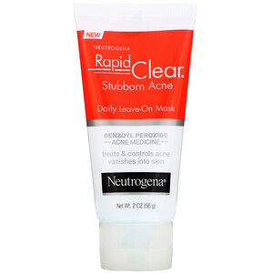 НьютроДжина, Rapid Clear, Stubborn Acne, Daily Leave-On Mask, 2 oz (56 g) отзывы покупателей
