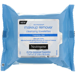 НьютроДжина, Makeup Remover Cleansing Towelettes, Fragrance-Free, 25 Pre-Moistened Towelettes отзывы