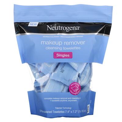Купить Neutrogena Makeup Remover Cleansing Towelettes, Singles, 20 Pre-Moistened Towelettes