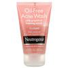 Neutrogena, 暗疮护理洁面露,粉红葡萄柚泡沫磨砂膏,2 液量盎司(59 毫升)