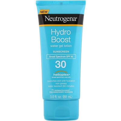 Купить Neutrogena Hydro Boost, Water Gel Lotion, SPF 30, 3 fl oz (88 ml)