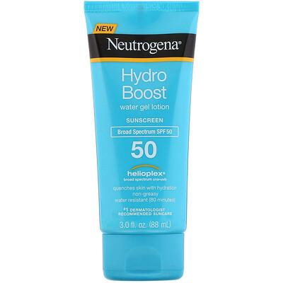Купить Neutrogena Hydro Boost, Water Gel Lotion, SPF 50, 3 fl oz (88 ml)
