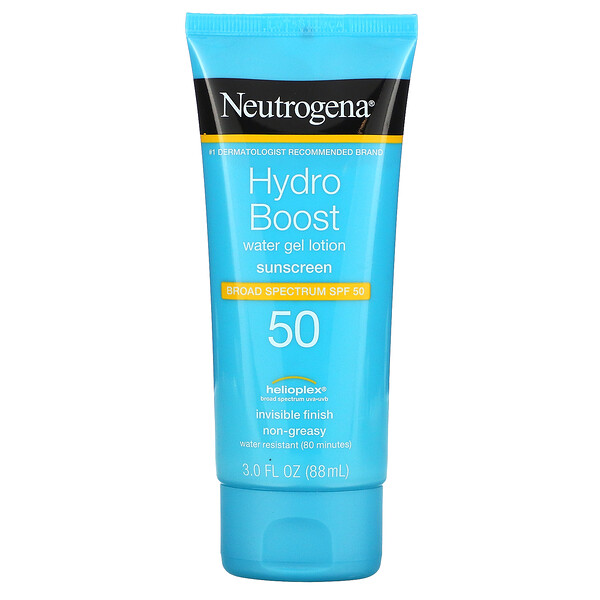 Neutrogena, Hydro Boost, Water Gel Lotion, SPF 50, 3 fl oz (88 ml)