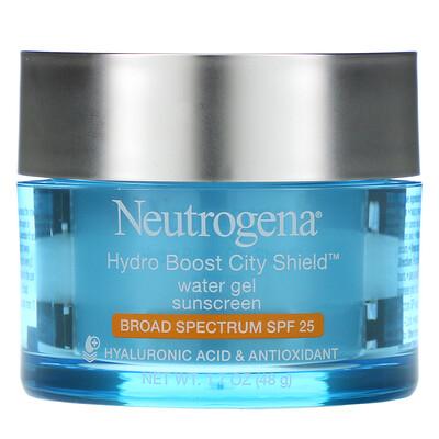 Купить Neutrogena Hydro Boost City Shield, Water Gel Sunscreen, SPF 25, 1.7 oz (48 g)