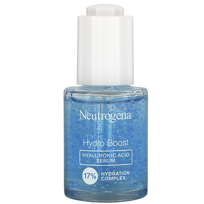 Купить Neutrogena Hydro Boost, Hyaluronic Acid Serum, Fragrance Free, 1.0 fl oz (30 ml)