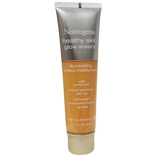 Neutrogena, Healthy Skin Glow Sheers, Light to Medium 30, SPF 30, 1.1 fl oz (32 ml)
