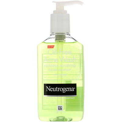 Купить Neutrogena Средство для умывания от угревой сыпи без масла, Очищающее средство для лица, уменьшающее красноту, 6 ж. унц.(177 мл)