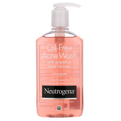 Neutrogena Oil-Free Acne Wash, Pink Grapefruit Facial Cleanser, 9.1 fl oz (269 ml)