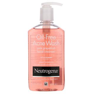 Neutrogena, Oil-Free Acne Wash, Pink Grapefruit Facial Cleanser, 9.1 fl oz (269 ml)