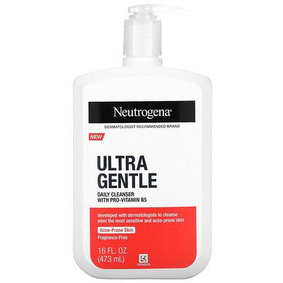 Купить Neutrogena Ultra Gentle, Daily Cleanser With Pro-Vitamin B5, Fragrance-Free, 16 fl oz (473 ml)