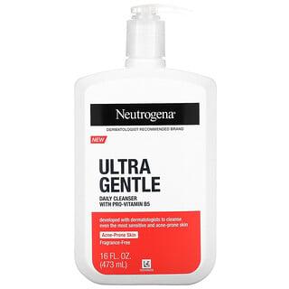 Neutrogena, Ultra Gentle, Daily Cleanser With Pro-Vitamin B5, Fragrance-Free, 16 fl oz (473 ml)