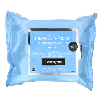 Neutrogena, Makeup Remover Cleansing Towelettes, 2 Packs, 25 Pre-Moistened Towelettes Each