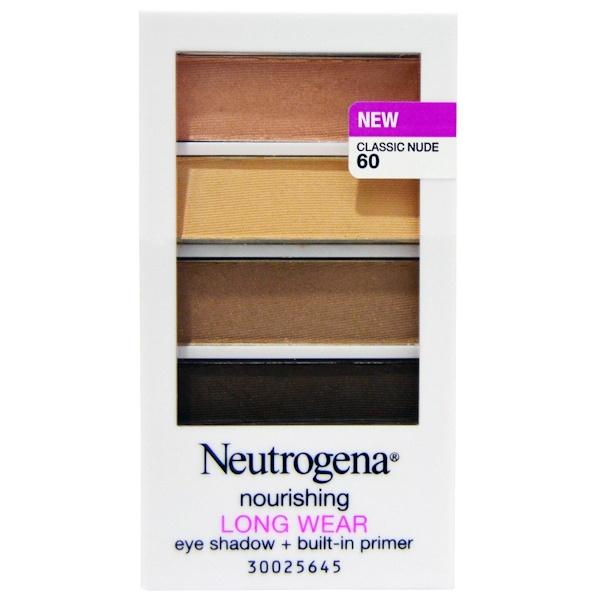 Neutrogena, Sombra para ojos de larga duración, Desnudo clásico 60, 6,97 g (0,24 oz) (Discontinued Item)