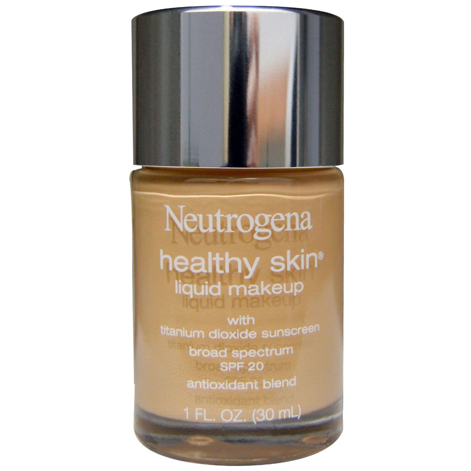 10a09460c Neutrogena, Healthy Skin Liquid Makeup, SPF 20, Nude 40, 1 fl oz (30 ml)