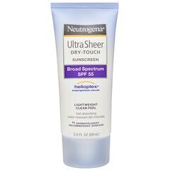 Neutrogena, Ultra Sheer Dry Touch Sunscreen, SPF 55, 3.0 fl oz (88 ml)