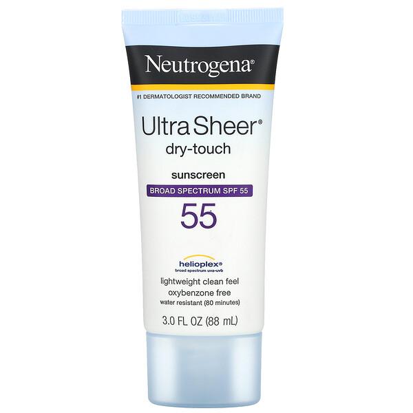 Ultra Sheer Dry Touch Sunscreen, SPF 55, 3 fl oz (88 ml)