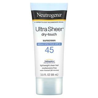 Neutrogena, Ultra Sheer Dry-Touch Sunscreen, SPF 45, 3 fl oz (88 ml)