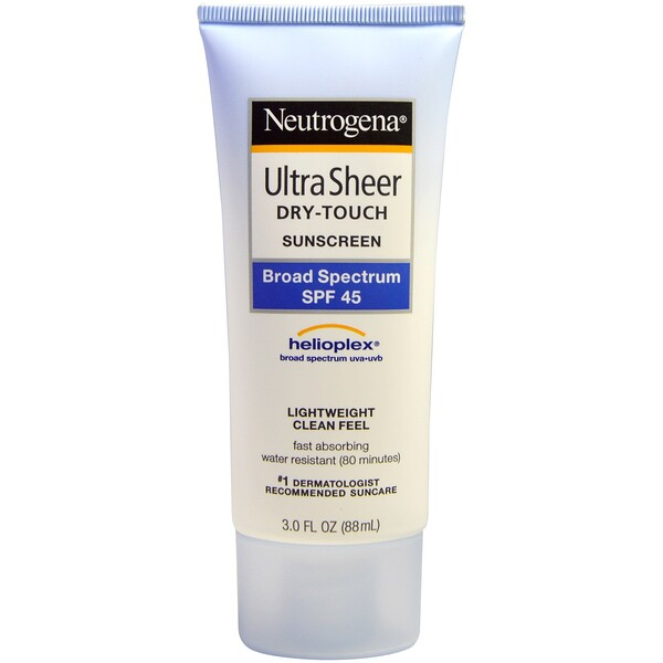 Neutrogena, Ultra Sheer Dry-Touch Suncreen, SPF 45, 3.0 fl oz (88 mL)