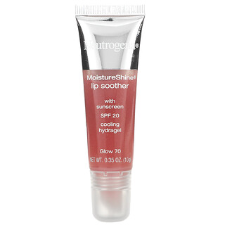 Neutrogena, MoistureShine Lip Soother, SPF 20, Glow 70, 0.35 oz (10 g)