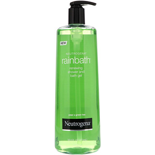 Neutrogena, Rainbath, Оновляющий гель для душа и ванны, Груша и зеленый чай, 16 ж. унц.(473 мл)