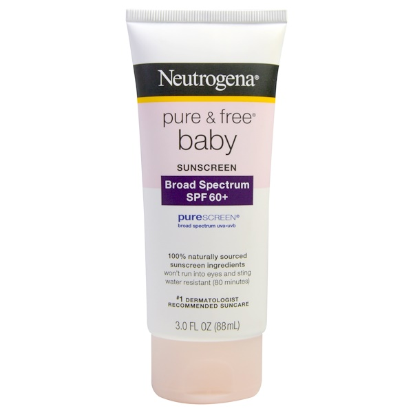 Neutrogena, Pure & Free Baby Sunscreen, SPF 60+, 3.0 fl oz (88 mL) (Discontinued Item)