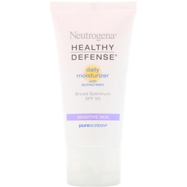 Healthy Defense, Daily Moisturizer with Sunscreen, Broad Spectrum SPF 50, Sensitive Skin, 1.7 fl oz (50 ml)